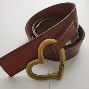 American Eagle Outfitters Heart Leather Belt SZ S
